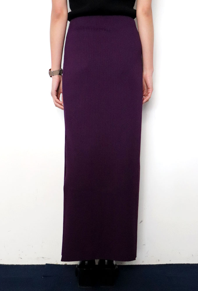 PHEENY / フィーニー / Pe/c wide rib side slit maxi skirt