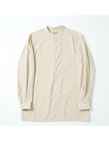 round body band collar shirt (BEG)