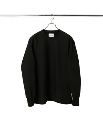 Hyper stretch light crew neck sweat (BK)