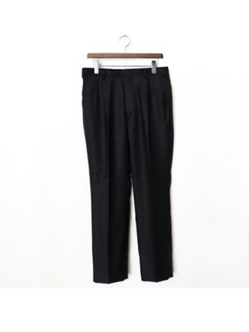 1tuck straight pants (BK)