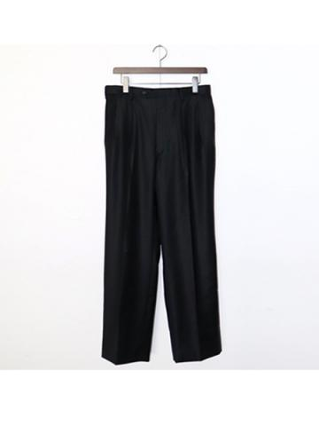 2tuck wide pants (BK)