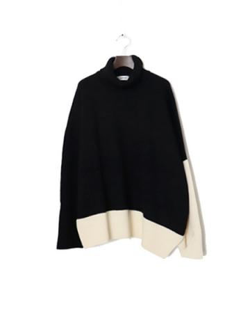 High neck by color knit (BK)