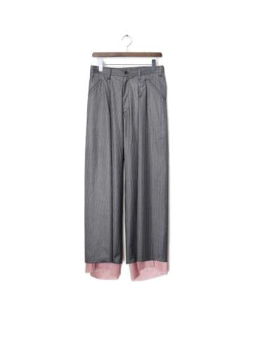 Bias wide pants (GRY)
