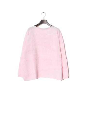Jacquard long sleeve knit (PNK)