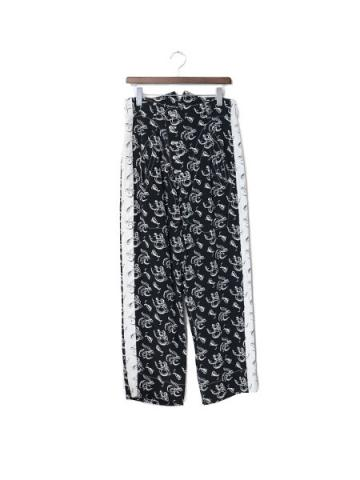 ︎Reversible side chapter pants (BLK×WHT)