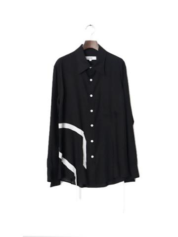 T︎encel collar shirt (BLK)