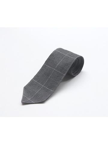glen check necktie