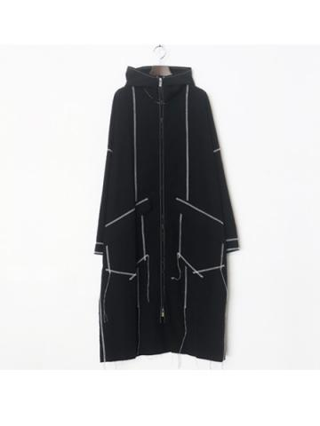 zip up rain coat (BLK)