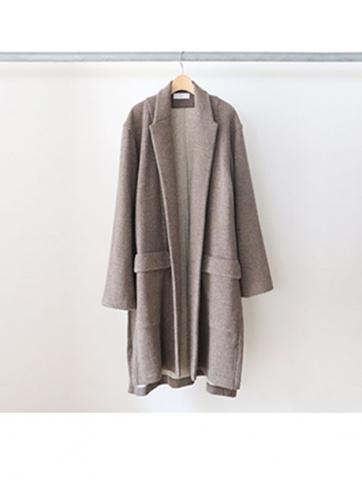 w-face knit gown coat (BRN)