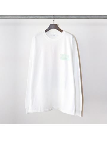 Flower LS / t-shirts (WHT)
