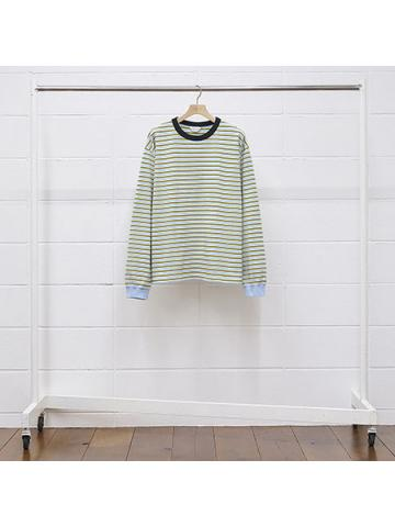 long-sleeve border t-shirt
