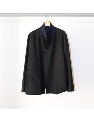 COTTON GABARDINE / STAND COLLAR JACKET (NVY)