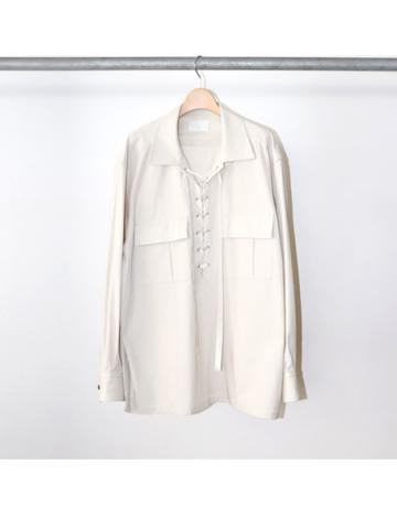 Cotton gabardine lace up shirts (LBEG)