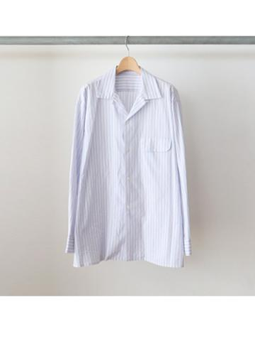 cotton stripe open collar shirts