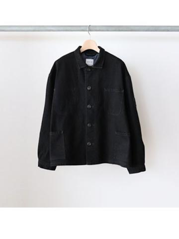FRENCH COVERALL JACKET (BLK)